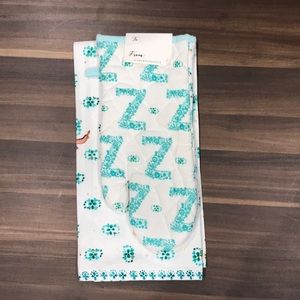 Anthropologie Z Monogram Dishtowel And Oven Mitt